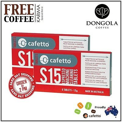 2PK CAFETTO S15 Espresso Machine Cleaning Tablets Super Automatic KARIMA Coffee