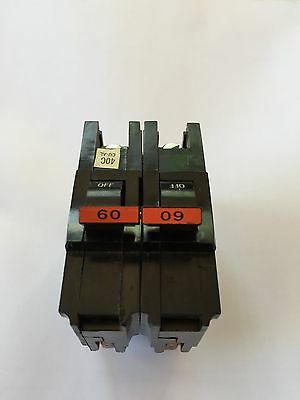 Federal Pacific 60 amp 2 pole circuit breaker, stab-lok, type NA