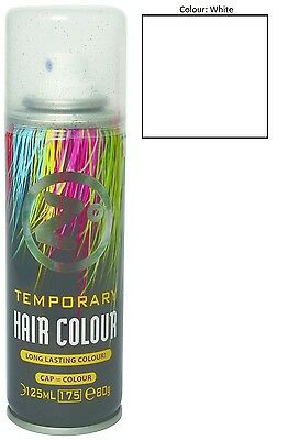 Zo White Temporary Hair Colour 125Ml Hair Spray Long Lasting All Events