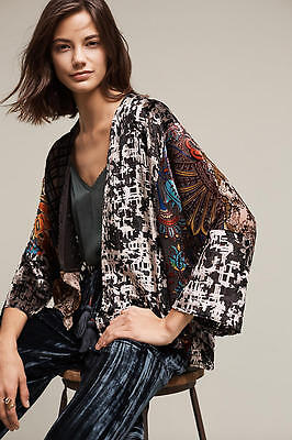 NWT Anthropologie Velvet Muse Kimono Stunning Beauty One Size