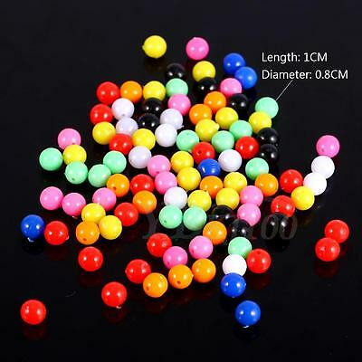 100pcs/pack Glow Beads Rigs Luminous Fishing Bead Round Float Tackles OB