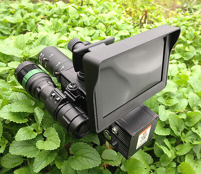 LCD Screen Day Night Hunting Riflescope DIY Night Vision Scope Two Infared Torch