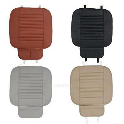 Car Front Seats PU Leather Cover Cushion Bamboo Slip Bucket Seat Protector Mat