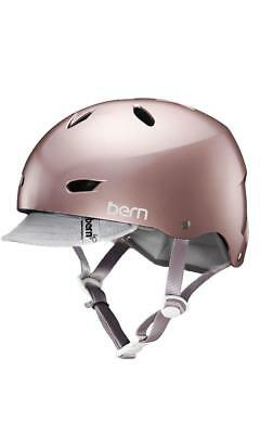 Bern Brighton Bike  Visor - Crank Fit Rose Gold in SATIN ROSE GOLD