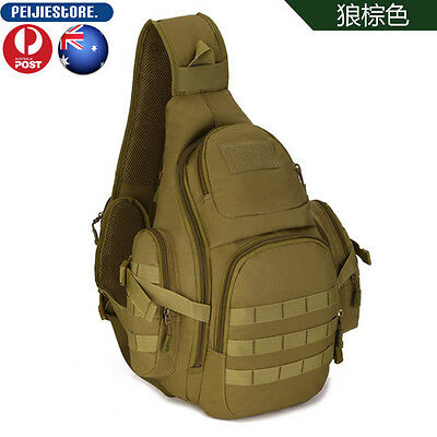 Protector Plus Tactical Military Daypack Sling Chest Pack Bag Shoulder Hunting