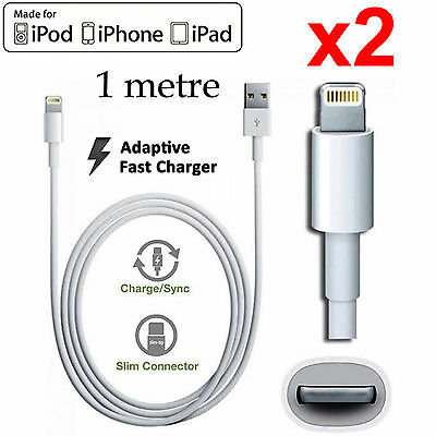 2 Apple iPhone 6 7 8 SE X XS Max XR iPad Air iPod lightning data charger cable