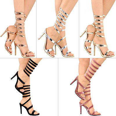 25d68534aa8 EXCEPTION09 CLEAR HIGH Heel Pointed Open Toe Iridescent Strappy ...