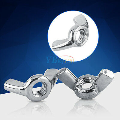 10Pcs M3 M4 M5 M6 M8 316 Stainless Steel Wing Nuts Butterfly Nuts DIN315