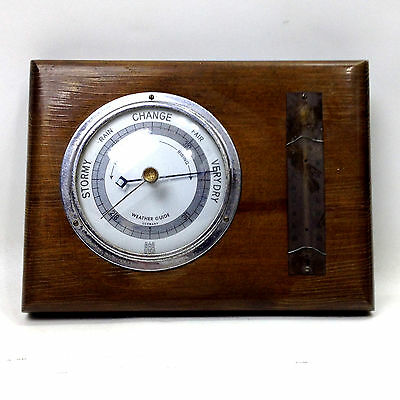 Vintage Wooden Barometer Weather Guide Made in Germany