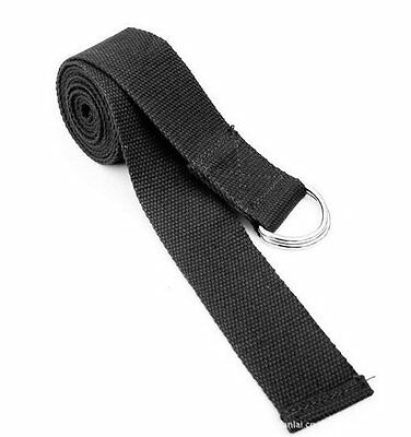 Black Yoga Belt / Yoga Strap - 183cm X7I1