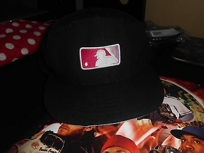 RARE New Era MLB Umpire Hat / Cap Pink Logo Authentic On Field Exclusive Edition