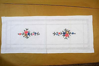 Vintage Hand Embroidered Table Cloth Runner