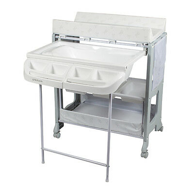Baby Change Table and Bath with High density Foam Change Pad with Side Panels