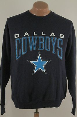 Vtg Dallas Cowboys Sweatshirt - 80s Navy Blue 50 50 USA Artex - Men's Large L