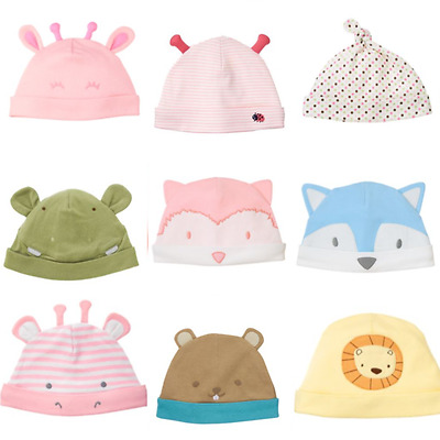 Gymboree Baby Hat NB 0-3 3-6 6-12 12-18 Hippo Giraffe Fox Lion Raccoon Blue Pink