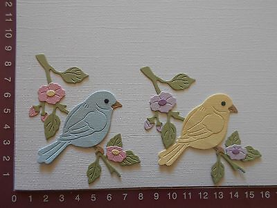 Die cuts - Bluebird, Birds, Flowers, Branch - Lot 2