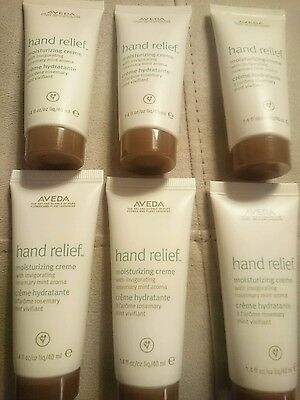 Aveda Hand Relief Creme hand cream 1.4oz x 6 Rosemary mint total 8.4 oz (240ml)