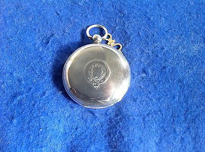 Pocket Watch Hunter London Hallmarked Case 1865 Solid Silver Running