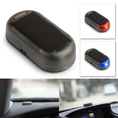 Car Solar Power Dummy Alarm Warning Anti-Theft Caution Simulated Flash LED.Light