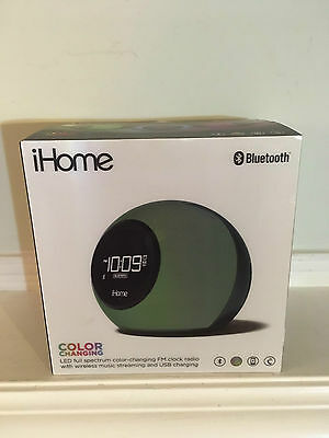 iHome IBT29 Bluetooth Color Changing Dual Alarm Clock FM Radio