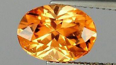 Imperial Topaz Gold Orange 3.94 ct flawless origin Katalang mine Pakistan 11 x 8