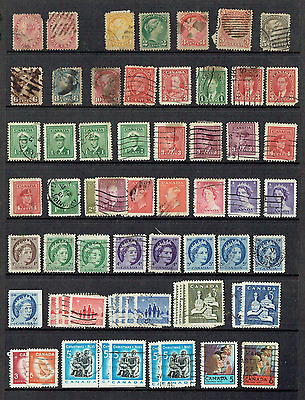 Canada Used Stamps x 106 ~ 1859 Onward