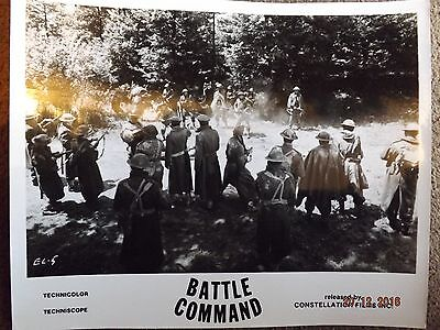 Battle Command Lobby Card 10X8 Black And White Rare?