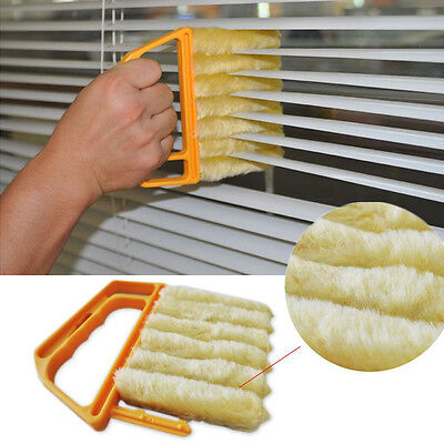 7 Brush Venetian Blind Cleaner Duster for Blinds & Shutter Clean Re WASHABLE