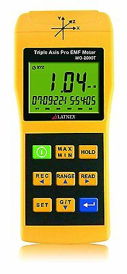 Latnex EMI Magnetic field gauss Meter detector MG-2000T Triple Axis Professional