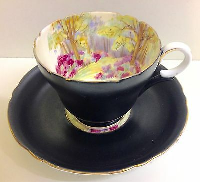 "Shelley Henley Shape ""Englands Charm"" Pattern Coffee Cup & Saucer."