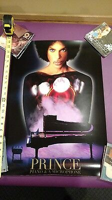 PRINCE Piano and a Microphone ORIGINAL authentic tour poster!