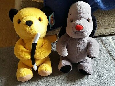 """12"""" sooty and sweep soft olush toys"""
