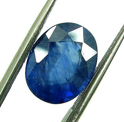4.85 Ct Certified Natural Blue Sapphire / Neelam Oval Loose Stone Astro - 108308
