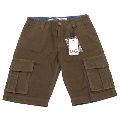 7097O bermuda verde bimbo D&G JUNIOR trousers shorts kids