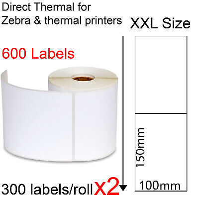 700 Direct thermal labels roll 100x150mm Zebra Fastway EParcel Startrack Sato
