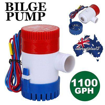 Universal 12V Submersible Fishing Boat/Marine Bilge Water Pump 1100GPH N98B P6
