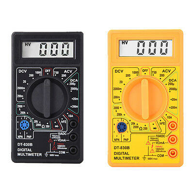 Multimeter AC/DC Voltage Multi Tester Meter Mini LCD Digital Voltmeter Ohm
