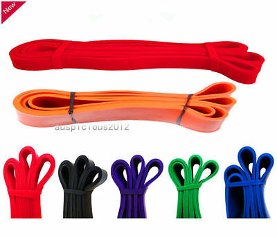 Heavy Duty Resistance Band Loop Power Gym Fitness Exercise Yoga Workout Pilate A