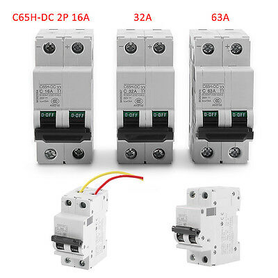 Miniature Circuit Breaker C65H-DC 2P 2 Pole 250V DC Solar Energy Air Switch Amps