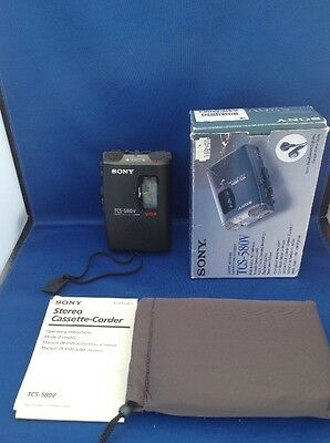 SONY TCS-580V Dictaphone Cassette Recorder Portable Stereo *RARE* Fast Post