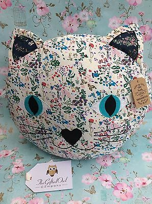 Sass & Belle  Jessie Vintage / Retro Cat Kitten Cushion New Tags Gift Bag Quirky