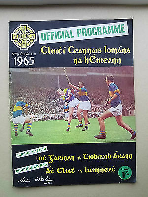 Vintage 1965 GAA All Ireland Hurling Final WEXFORD V TIPPERARY Programme