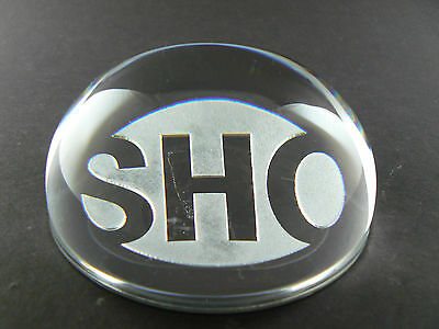 Clear Crystal Glass Papaerweight with SHOWTIME logo SHO (w6-1)