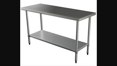 Stainless Steel Kitchen Bench / Work Bench / Commercial/ Preparation / Cafe