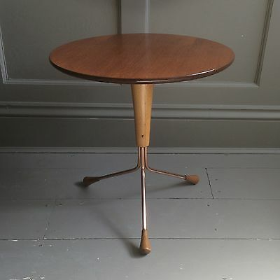 1950s Albert Larsson side table, midcentury Swedish 1960s retro vintage