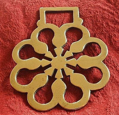 Antique Cast Horse Brass - A Hard To Find Pattern