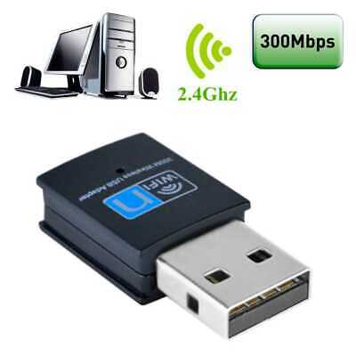 Chiavetta USB Dongle Wifi 300Mbps Antenna Wi Fi Wireless Lan Adattatore 802.11N