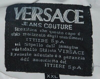 Vintage Versace Jeans Couture Jacket Tracksuit Vest Sleeveless White Ibiza Xxl