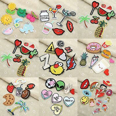 1 Set Embroidered Sew Iron On Patches Badge Hat Bag Fabric Applique Clothes DIY