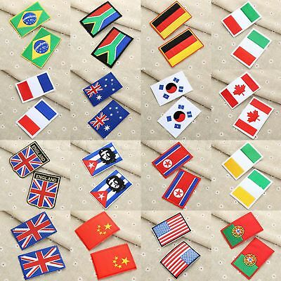 1PC Flag Embroidered Patch Badge Iron/Sew Jeans Bag Jacket DIY Craft Accessories